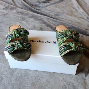 1f0321b90c85 NIB Charles David Soufflé Slide Sandals